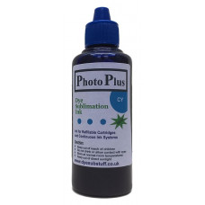 100ml of Cyan Epson Compatible  Sublimation Ink -  PhotoPlus Brand.