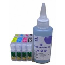Sublimation Cleaning Cartridge Kit for Printer Models using Epson T2715 Cartridges.