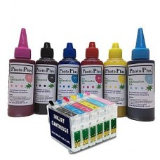 Epson Compatible T0487 Sublimation Refillable Cartridge Kit.