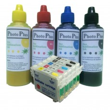 Epson Compatible T1005 Sublimation Refillable Cartridge Kit.