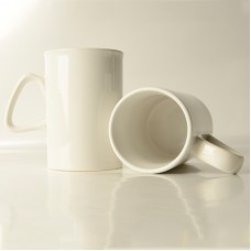 10oz White Mug with Straight Walls  - Box of 36pcs