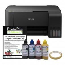 Dye Sublimation Printer Bundle - Epson Ecotank ET-2710 & Dye Sublimation Printing Accessory Kit.