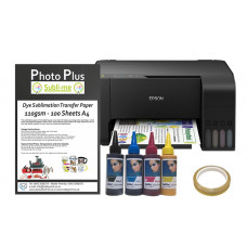 Dye Sublimation Printer Bundle - Based on an Epson Ecotank L3110 & Hobbyprint Dye Sublimation Printing Accessory Kit.
