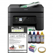 Dye Sublimation Printer Bundle - Epson WF-2830DWF & Dye Sublimation Printing Accessory Kit.