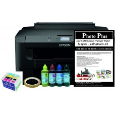Dye Sublimation Printer Bundle - Epson WF-7210DTW & Dye Sublimation Printing Accessory Kit.