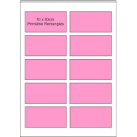 24 x A4 Printable Edible Icing Sheets, 10 of 90mm x 45mm Pre-cut Rectangles per Sheet