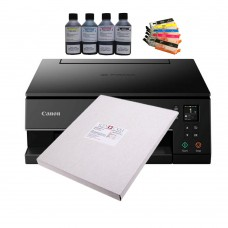 Edible A4 Printer Bundle, Canon TS6350, Refillable Cartridges, edible ink & Icing Sheets.