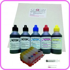 Edible Printer Refillable Cartridge Accessory Kit for Canon PGI-5 with Icing Sheets.