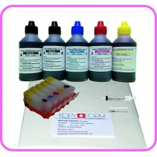 Edible Printer Refillable Cartridge Accessory Kit for Canon PGI-5 with Wafer Papers.