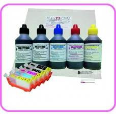 Edible Printer Refillable Cartridge Accessory Kit for Canon PGI-520 with Icing Sheets.