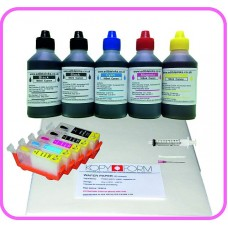 Edible Printer Refillable Cartridge Accessory Kit for Canon PGI-525 with Wafer Papers.