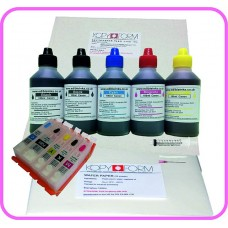 Edible Printer Refillable Cartridge Accessory Kit for Canon PGI-550 with Icing & Wafer Papers.