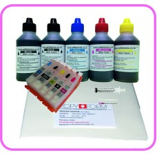 Edible Printer Refillable Cartridge Accessory Kit for Canon PGI-550 with Wafer Papers.