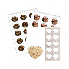 25  x A4 Printable Edible Chocolate Transfer Sheets.