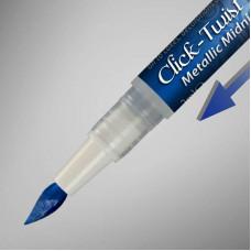 The Click-Twist Food Paint Brush - Metallic Midnight Blue - 2ml
