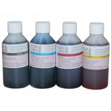 400ml Bottled Edible Ink for Canon Printers - 4 x 100ml Set of CMYK.