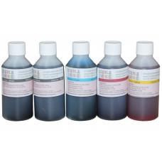 500ml Bottled Edible Ink for Canon Printers - 5 x 100ml Set of CMYKK.