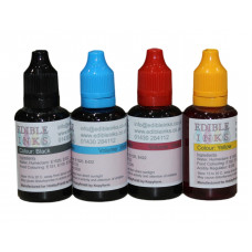 120ml Bottled Edible Ink for Canon Printers - 4 x 30ml Set of CMYK