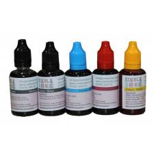 150ml Bottled Edible Ink for Canon Printers - 5 x 30ml Set of CMYKK.