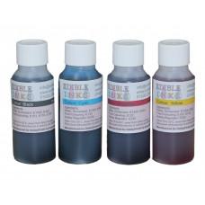 200ml Bottled Edible Ink for Canon Printers - 4 x 50ml Set of CMYK.