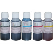 250ml Bottled Edible Ink for Canon Printers - 5 x 50ml Set of CMYKK.