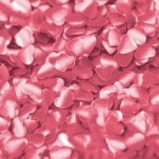 Edible Shapes - Pink Hearts with a metallic sheen.