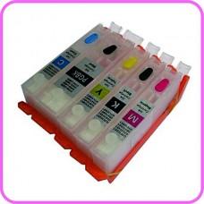 Refillable Edible Ink Cartridge Set for Canon PGI-550 - CLI-551 Cartridges.