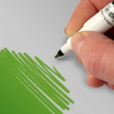 Food Art Pen - Holly Green, with a fine and a broad nib. - 2 pens in 1.