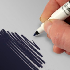 Food Art Pen - Navy Blue, with a fine and a broad nib. - 2 pens in 1.