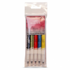 Food Art Pen - 5 x Multipack, with a fine and a broad nib. - 2 pens in 1.