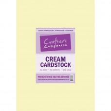 Cream A4 Card 300gsm in 50 sheet pack by crafters Companion