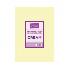 Cream A4 Card 300gsm Hammered Texture in a 50 sheet pack by Crafters Companion