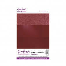 Luxury Mirror A4 Card Pack 250gsm in 3 mix of Red 30 sheet pack by Crafters Companion