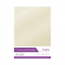 Centura Metallic A4 Printable 310gsm Printable Card Pack - Pale Gold 10 sheets