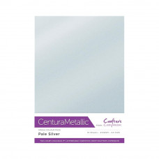 Centura Metallic A4 Printable 310gsm Printable Card Pack - Pale Silver 10 sheets