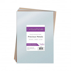 Centura Metalic A4 Printable 310gsm Printable Card Pack - Precious Metals 36 sheets