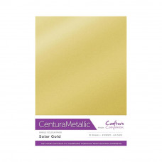 Centura Metallic A4 Printable 310gsm Printable Card Pack - Solar Gold 10 sheets