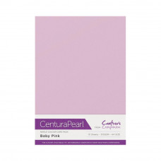 Centura Pearl, 10 Sheets of Baby Pink Single Side 300gsm Printable A4 Card