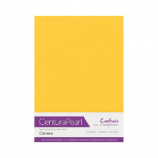 Centura Pearl, 10 Sheets of Canary Single Side 300gsm Printable A4 Card
