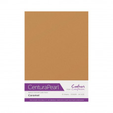 Centura Pearl, 10 Sheets of Caramel Single Side 300gsm Printable A4 Card