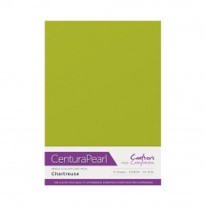 Centura Pearl, 10 Sheets of Chartreuse Single Side 300gsm Printable A4 Card