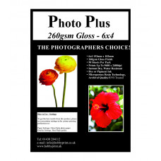 "Photo Plus Photo Paper 6"" x 4"" Premium Gloss 260gsm, 50 Sheet Pack"