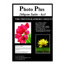 "Photo Plus Photo Paper 6"" x 4"" Premium Satin 260gsm, 50 Sheet Pack"