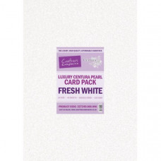 Centura Pearl Luxury A3 Fresh White  320gsm Double Sided Card in a 20 sheet Pack by Crafter's Companion
