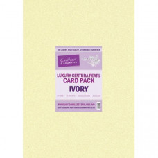 Centura Pearl Luxury A4 Ivory 320gsm Double Sided Card in a 40 sheet Pack by Crafter's Companion
